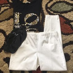 """White Ankle Pants Pull On Style Brand:  I.N.C. Color(s):  white Condition:  like new Size tag:  8 Measurements:  waist 32"""", hips 38"""", leg inseam 28"""" Fabric: see photo  Care:  machine wash, tumble dry low, iron if needed Special features:  soft stretchable comfortable waist band, straight leg, ankle pants, any season & very versatile.  • Fast shipping • Many versatile items available, feel free to check out my closet! INC International Concepts Pants Ankle & Cropped"""