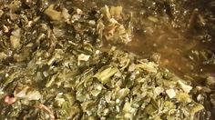 Southern-style collard greens simmered with ham hock just like mama used to make is a tasty side dish and will bring you good luck in the New Year.