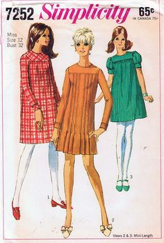 Simplicity...I MADE this pattern in 1965! Goodness! I wonder if I still have it?