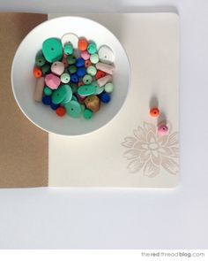 the red thread :: create, inspire, share | How to make an ombre polymer clay necklace | http://www.theredthreadblog.com