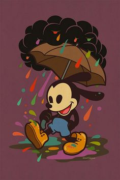 Great series of Disney characters illustrated by California-based artist Dave Quiggle for the WonderGround Gallery in the Downtown Disney® District at the Disneyland® Resort. Arte Disney, Disney Magic, Disney Art, Disney Theme, Epic Mickey, Disney Illustration, Illustrations, Digital Foto, Oswald The Lucky Rabbit