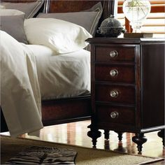 British Colonial - Telephone Table in Caribe - 020-63-81 - Stanley Furniture - Bedroom - night stand