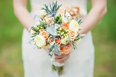 peach mint and blue wedding | Blue Dress Barn Wedding - see more at http://fabyoubliss.com