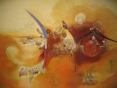 Asfar | Painting | Artist : Kaite Helps | www.kaitehelps.co.uk