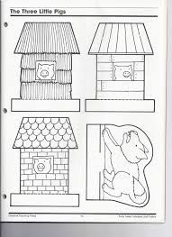 Image result for three little pigs houses template
