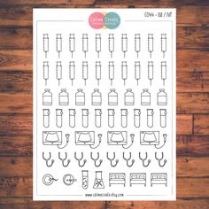 IUI / IVF, Fertility Planner Stickers, Doodle Planner Stickers, Trying to Conceive, Pregnancy & Fertility (C044)
