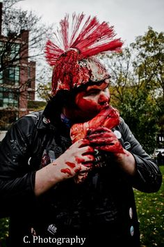 I've been to the Toronto Zombie Walk the last 4 years as a Hippie, Goth, Metalhead and Greaser in that order