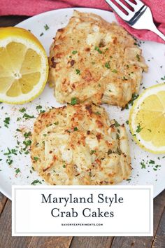 Maryland Crab Cakes are made with jumbo lump crab meat with little filler Dijon mustard and Old Bay Seasoning plus secr Crab Cake Recipes, Fish Recipes, Seafood Recipes, Cooking Recipes, Crab Cakes Recipe Best, Lump Crab Meat Recipes, Drink Recipes, Dinner Recipes, Gourmet