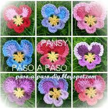 Image result for como hacer flores en crochet paso a paso en español