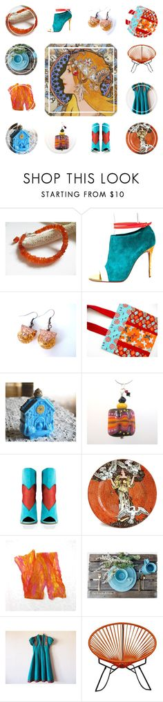 Bohemian Rhapsody by jarmgirl on Polyvore featuring Konstantina Tzovolou, Christian Louboutin, Avon, Innit, Royal Doulton and vintage