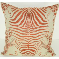 Design Accents Tiger Cotton Linen Pillow | Wayfair