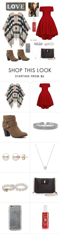 """Date night!"" by kaylastyles4life ❤ liked on Polyvore featuring Burberry, Bling Jewelry, Links of London, Ted Baker, Agent 18 and Parlane"