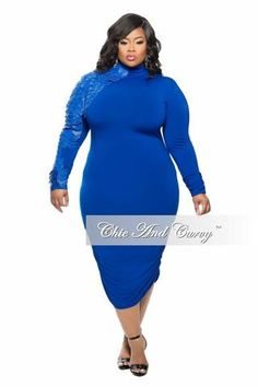Plus Size Dress with Long Peplum Tail in Black and Gold – Chic And ...