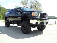 lifted truck with camper shell - Google Search New Trucks, Chevy Trucks, Truck Camper Shells, Chevy Silverado 2500, Toyota Tundra, Monster Trucks, Camping, Google Search, Board