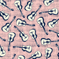 pattern, design, print, repeat pattern, guitars, colour, texture, illustration