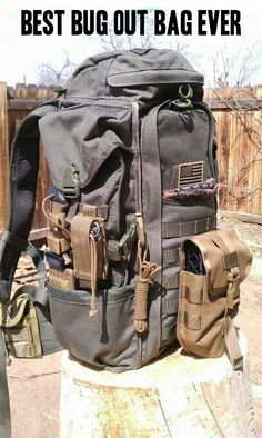 Rothco backup connectable backpack survival emergency disaster bugoutbag brown