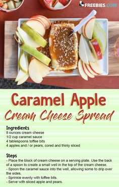 Serve this spread with sliced apples and pears for a perfect sweet appetizer!