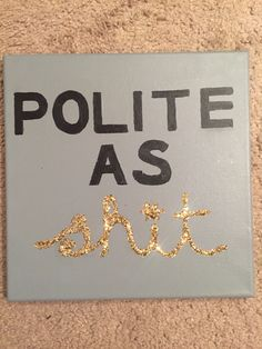 Sorority canvas with gold glitter
