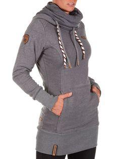db75717d9350 Naketano-Damen-Sweatshirt -Rereorder-III-Damenpullover-Schalkragen-Longshirt-Neu