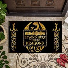 Beyond Here There Be DragonsTabletop Role-playing Game | Etsy New Home Gifts, Gifts For Wife, Trendy Colors, Vivid Colors, Funny Wolf, Door Rugs, Meant To Be Quotes, Wife Humor, Entrance Rug