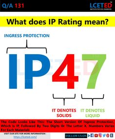 in this article you can know about what is IP rating & you can find ip rating reference chart Civil Engineering Design, Civil Engineering Construction, Construction Materials, Nursing Student Tips, Nursing Students, Chemical Engineering, Electrical Engineering, Metric Conversion Chart, Types Of Foundation