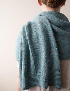 Ravelry: Bias Wrap pattern by Purl Soho, simple elegant scarf wrap knitting pattern. Types Of Knitting Stitches, Loom Knitting Patterns, Knitting Kits, Free Knitting, Knitting Ideas, Knit Shawl Patterns, Simple Knitting, Knitting Tutorials, Knit Stitches