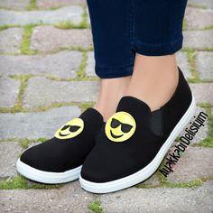 Emoji Spor Ayakkabı #emoji #fun #sports #black #shoes Emoji, Converse Shoes, Black Shoes, Beauty Hacks, Slip On, Footwear, Lilac, Lady, My Style