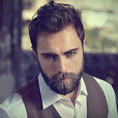 Alp Ilkman. His hair, eyebrows, moustache and beard.