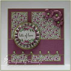 Crafting with Cotnob, Clearly Besotted, Craftwork Cards, Julie Loves Wildflowers Creativity Box, Spellbinders, Tim Holtz Paper Rosette Die