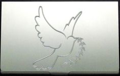 Dove Flying Twig NEW Engraved Business ID Credit Card Patch Holder Case BUS-0093