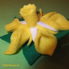FEB 2012, Wales - Daffodil Felt Flower Brooch, by Stuff N Nonsense