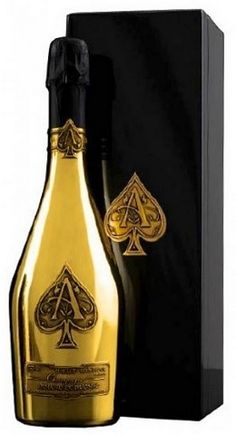 Armand de Brignac Brut Gold Ace of Spades is a very sophisticated champagne, made with the utmost care and dedication in a generation long family tradition of champagne makers. Each bottle is hand crafted, filled, rotated, disgorging, corked and packaged. Because of the strict quality Armand de Brignac is available in limited numbers.  Each bottle of Armand de Brignac champagne we deliver in very luxurious with 24 carat gold and velvet finished coffret.