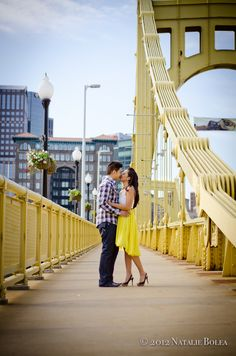 Engagement Shoot - Roberto Clemente Bridge, Pittsburgh, PA