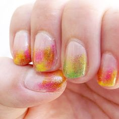 Blurring nail
