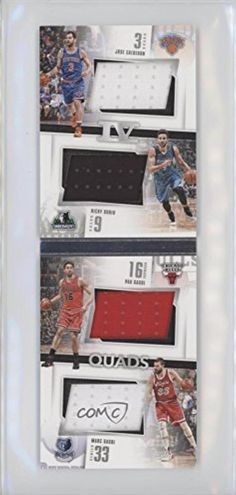 Marc Gasol; Ricky Rubio; Jose Calderon; Pau Gasol #26/149 (Basketball Card) 2015-16 Panini Preferred Quads Booklets #Q-ESP - Brought to you by Avarsha.com