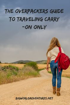 Come learn how to save money and pack light with The Over Packers Guide To Traveling Carry-On Only! We have all the tips you need at bigworldadventures.net.  Save money, Travel, Vacation, Budget, Carry-on only, No checked bags, Airlines, Planes, Holiday Suitcase Packing, Packing Light, Packing Tips, Carry On, Saving Money, Travel Tips, Places To Visit, Journey, Vacation