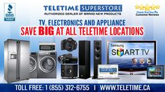 Telettime TV, Electronics and Appliances home deals. Up to 50% discount on brand new products