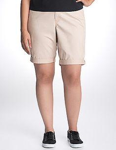 Twill Bermuda Shorts Lane Bryant Modest Shorts, Casual Shorts, Long Shorts, Summer Shorts, Lane Bryant, Short Outfits, Nike Shorts, Jean Shorts, Grow Hair