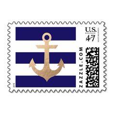 Nautical Navy Postage at #zazzle http://www.zazzle.com/nautical_navy_postage-172385541526636007?rf=238945240558277583