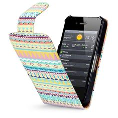 PU Leather Flip Case Cover for iPhone 4S / iPhone 4 / Aztec $15.99