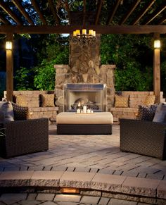 I think an outdoor fireplace is a fabulous idea for the cold winter nights & during the holidays!