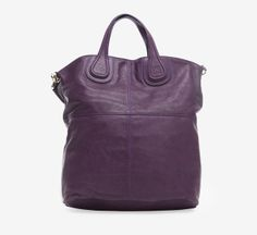 Givenchy Purple Leather Nightgale Shopper Tote