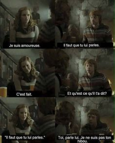 Harry potter ron et hermione humour Harry Potter Ron, Harry Potter Tumblr, Harry Potter Memes Clean, Harry Potter Universal, Hermione, Harry Potter Francais, Tumblr Funny, Funny Memes, Cartoon Memes
