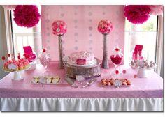 Decorare il tavolo da buffet - per femminuccia