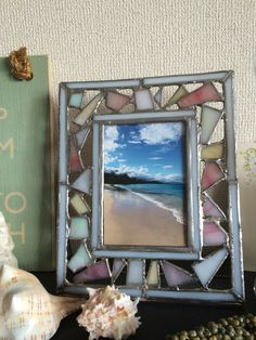 Stained Glass Photo Frame inspired by Lanikai Beach, Oahu