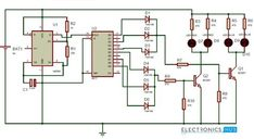Police Lights Circuit using 555 Timer and 4017 Decade Counter #NationOfMakers #MAKE