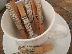 clever. i thought of using old pages from used/damaged books, but dictionary. genius!