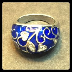 Blue sterling silver ring Blue sterling silver ring Jewelry Rings