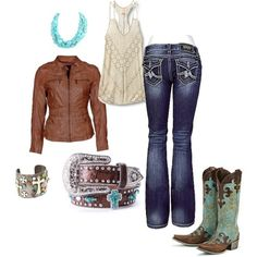 rodeo - look my boots! Rodeo Outfits, Country Outfits, Country Girls, Fall Outfits, Cute Outfits, Fashion Outfits, Womens Fashion, Country Style, Rodeo Clothes