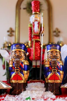 Nutcracker decorations at a Christmas Party!   See more party ideas at CatchMyParty.com!  #partyideas  #christmas